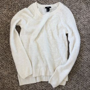 H&M light fuzzy sweater